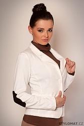 Dámské bílé sako se záplatami